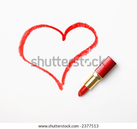 It's an 'I love you!' message written on a sheet of paper with the red lipstick.