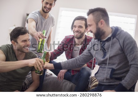 It's toast for our meeting! - stock photo