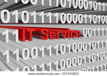 IT Service is presented in the form of binary code
