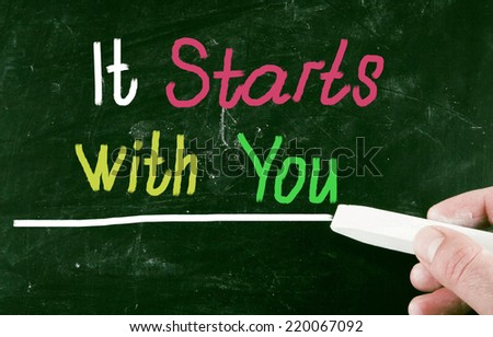 it starts with you - stock photo