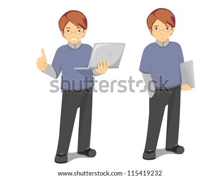 IT technician expression - stock photo