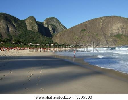 Itacoatiara beach view, in Niterói, Rio de Janeiro, Brazil - stock photo