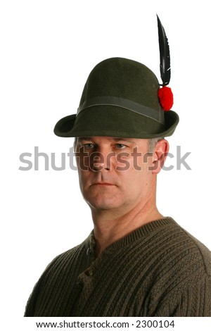 Italian Alpini Soldier with distinctive hat and feather - stock photo
