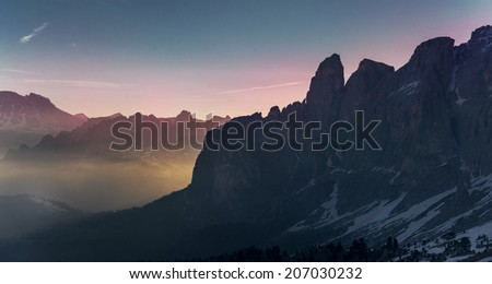 Italian Alps, beautiful and famous Dolomites in Spring./Dolomites Italy/