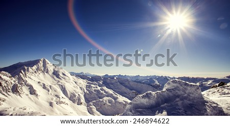 Italian Alps in winter - stock photo