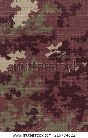 Italian army's camo fabric background high resolution scan - stock photo