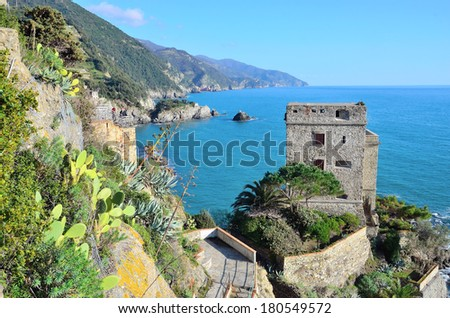 Italian  - beautiful Monterosso, Cinque terre - stock photo