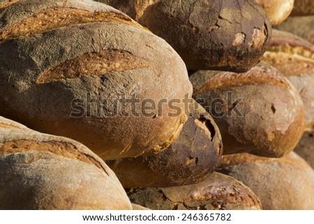 italian bread close up detail - stock photo