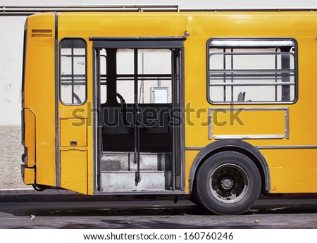 italian bus at a station - stock photo