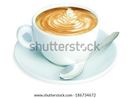 Italian Cappuccino - The Typical italian breakfast - stock photo
