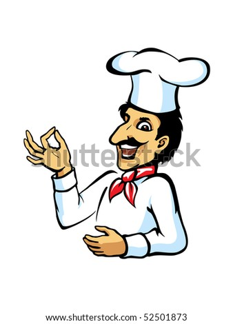 Italian chef with ok sign