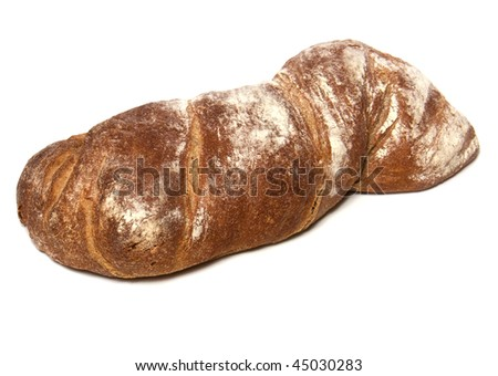 Italian ciabatta isolated on white background