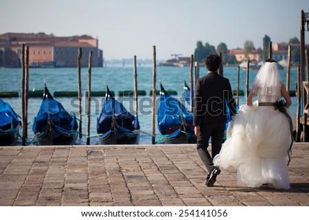 Italian city of Venice - stock photo