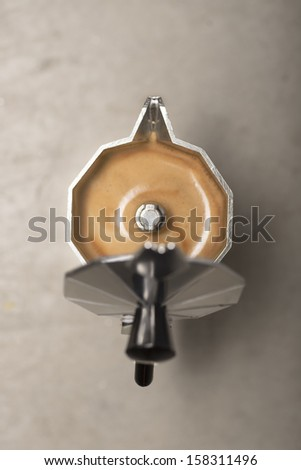 Italian coffee - stock photo