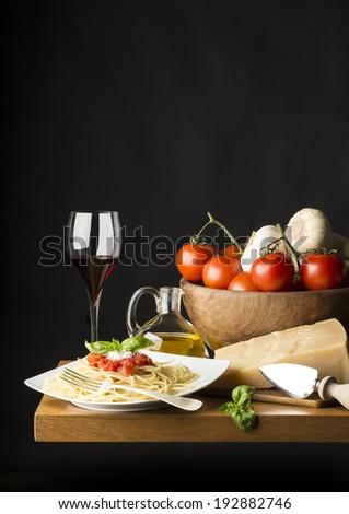 italian cuisine - stock photo