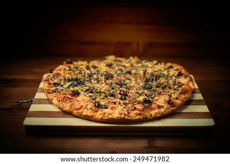 Italian delicious pizza - stock photo