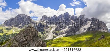 Italian Dolomites: Pale di San Martino - stock photo