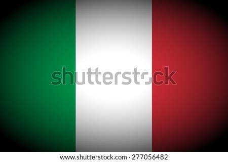 Italian flag vignetted - stock photo