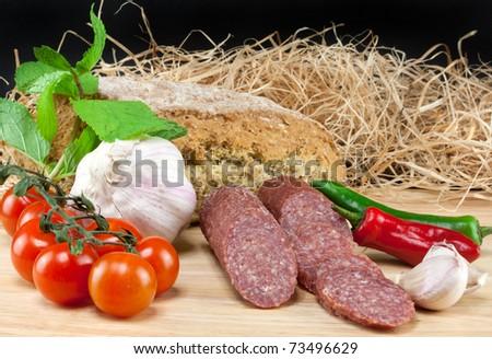 Italian food - stock photo