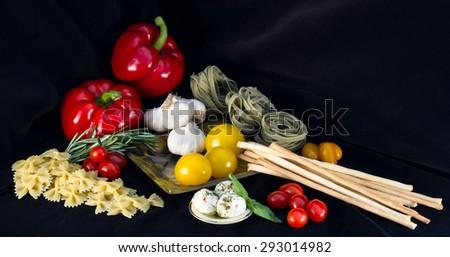 Italian Food Ingredients - stock photo