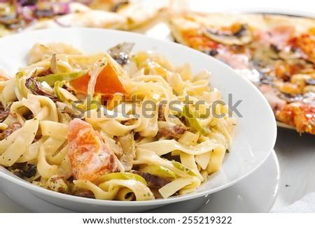 Italian food Pasta - stock photo