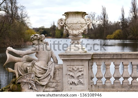 Italian gardens in London - stock photo