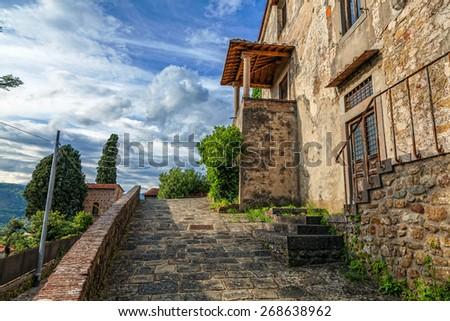 Italian landscape - stock photo