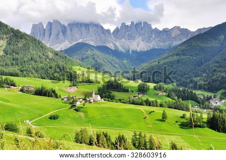 Italian landscape, Trentino Alto Adidge - stock photo