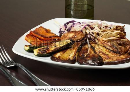 italian mix grilled vegetabels - stock photo