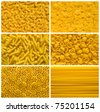 Italian pasta backgrounds collection - stock photo