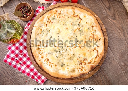 Italian Pizza Margherita - stock photo