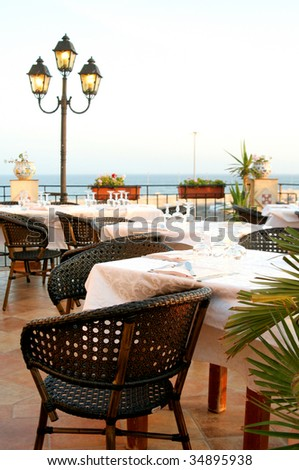 Italian Restaurant - stock photo