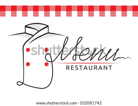 Italian restaurant menu - stock photo