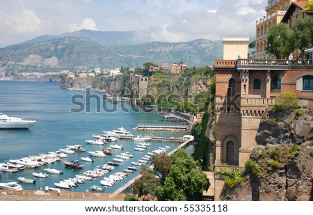 Italian riviera, Sorrento coast - stock photo