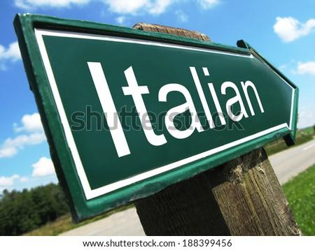 Italian road sign - stock photo