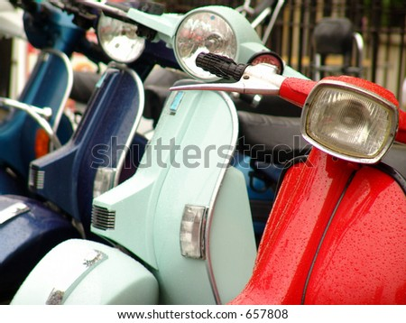 Italian scooters - stock photo