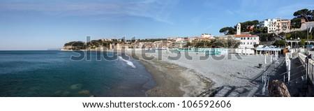 italian seascape - stock photo