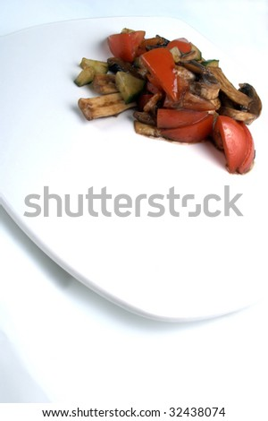 Italian tomato salad with creek cucumber and balsamic vinegar
