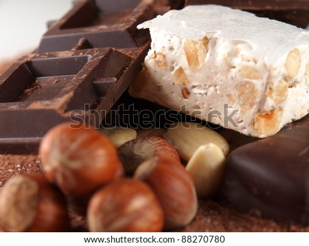 Italian torrone sweet - stock photo