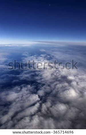 Italy, aerial view of clouds in the sky