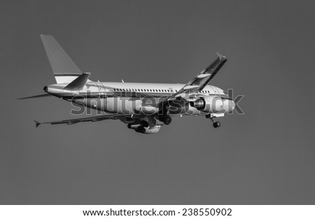 Italy, airplane take-off - stock photo