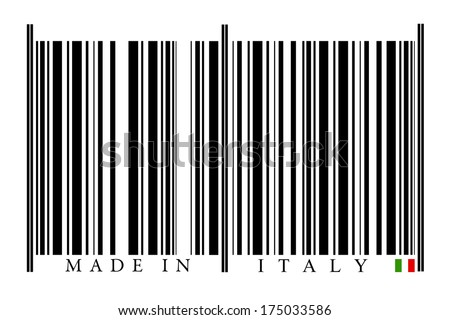 Italy Barcode on white background
