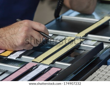 ITALY, Bari, International airport, flight control tower, flight control strings - stock photo
