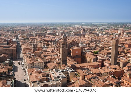 Italy, Bologna. Aerial view - stock photo