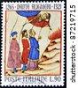 ITALY - CIRCA 1965: A stamp printed in Italy dedicated Dante Alighieri, circa 1965 - stock photo