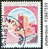 "ITALY - CIRCA 1980: A stamp printed in Italy from the ""Castles"" issue shows Norman Castle, Svevo, Bari, circa 1980. - stock photo"