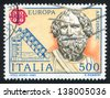 ITALY - CIRCA 1983: stamp printed by Italy, shows Archimedes and his screw, circa 1983 - stock photo