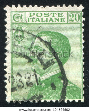 ITALY - CIRCA 1906: stamp printed by Italy, shows Victor Emmanuel III, circa 1906