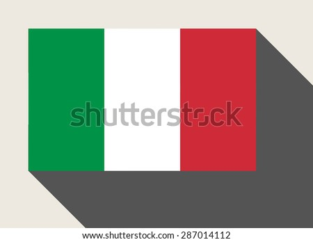 Italy flag in flat web design style. - stock photo