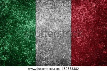 Italy flag painted on concrete